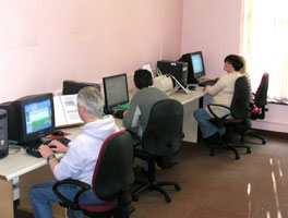 Students learning a variety of IT skills
